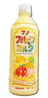 sangariaanofurutsu&牛奶500ml塑料瓶48(2箱)部奶性饮料酸奶味道02P03Dec16