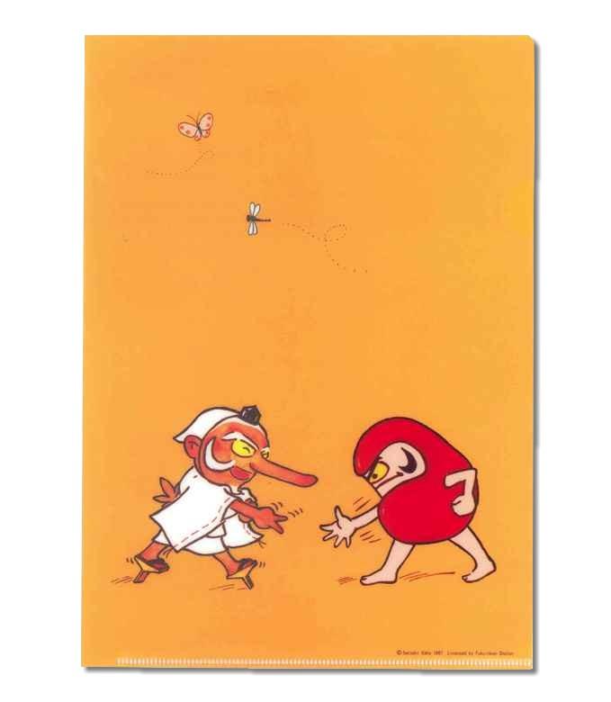 だるまちゃん クリアファイル じゃんけん 11774 【だるまちゃん】 【加古里子】 【だるま】 【キャラクターグッズ】 【RCP】