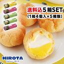 シュークリーム スイーツ 詰め合わせ 5箱 セット 洋菓子のヒロタ HIROTA おやつ デザート カスタード チョコレート ツ…