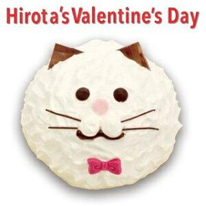 冷凍ケーキ ねこのミルフィーユ ( しろねこ ) バレンタイン スイーツ 洋菓子のヒロタ HIROTA ミルフィーユ デザート お菓子 おやつ カスタード ホイップクリーム シューケーキ 猫 ネコ 白猫 か