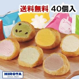 シューアイス スイーツ アイス 詰め合わせ 40個入 9種類 洋菓子のヒロタ HIROTA アイスクリーム おやつ デザート バニラ チョコレート 苺 抹茶 ラムレーズン クッキー&クリーム カスタード ヨーグルト レモン 送料無料
