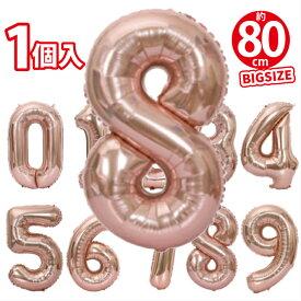 バルーン 誕生日 風船 誕生会 演出 受け付け 受付 部屋 飾り 飾りつけ 飾り付け バルーンギフト バースデー ふうせん パーティー グッズ 母の日ギフト 数字バルーン80cm シャンパンゴールド
