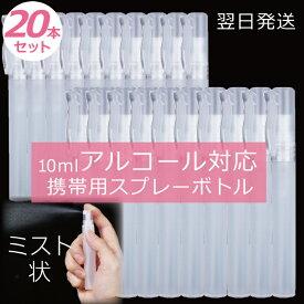 ペン型携帯用スプレーボトル 20本セット 10ml 送料無料 アルコール対応 次亜塩素酸水 除菌剤スプレー 携帯用ペン型 空スプレー