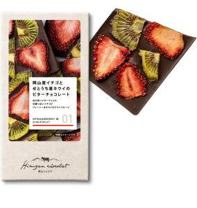 岡山産イチゴとキウイのビターチョコレート