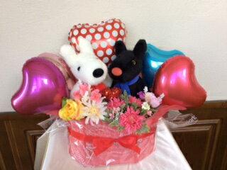 ウエディングドール バルーンギフト リサとガスパール クラッシック送料無料,電報 結婚式,ぬいぐるみ電報,結婚式 祝電,誕生日,開店祝い,ウェディング(1201)