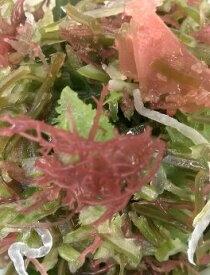 海藻サラダ(300g)国内産(九州地方)多種類のハーモニーです、更に野菜や小魚など混ぜ楽しく食してください。