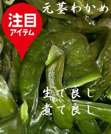 元茎わかめ(700g)三陸わかめの根元と葉の間の部位です、柔らかな部位で塩を抜き生でも食せます、肉厚で佃煮も美味。