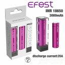 Efest リチウムマンガンバッテリー フラットトップ IMR 18650 3000mah 35A 2本セット 電子タバコ(PSEマーク認証)
