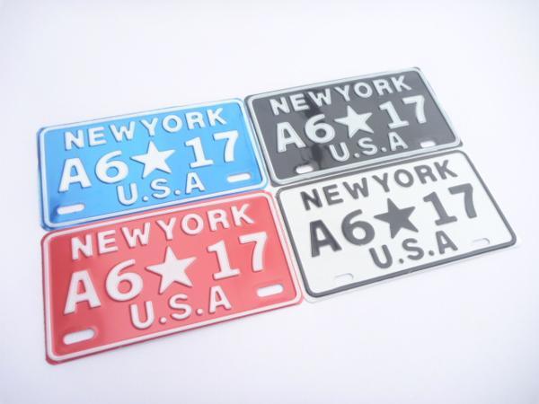 インテリアナンバープレート/NEW YORK各色