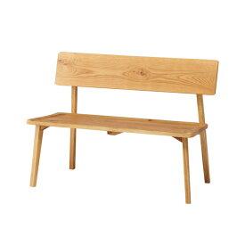 ダイニングベンチ 背付 北欧風 天然木 オーク無垢材 幅110cm 座面高43cm