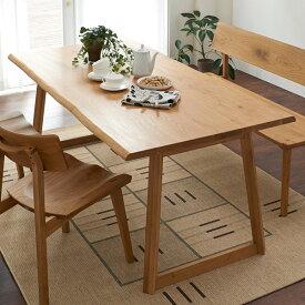 ダイニングテーブル 北欧風 天然木 オーク無垢材 幅180cm 6人掛け