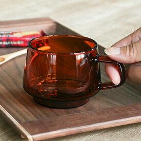 コーヒーカップ 270ml キントー KINTO SEPIAシリーズ ガラス 食器 耐熱