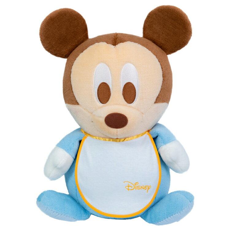 ミッキーマウスのスタイ付きウェイトドール(ベビー1体)【送料無料】両足裏刺繍入り【ウェルカムドール 体重ドール ディズニー Disney】【親ギフト 出産祝い 結婚式 披露宴】