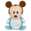 ミッキーマウスのスタイ付きウェイトドール(ベビー1体)両足裏刺繍入り【ウェルカムドール 体重ドール ディズニー Disney】【親ギフト…