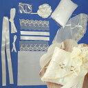 【お裁縫初心者向けお手軽リングピロー手作りキット】ベール付きモッコウバラのリングピロー(シャンパンゴールド)難…