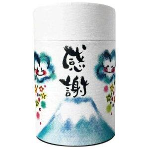 「感謝」(抹茶入り玄米茶ティーバッグ)わだのめぐみパッケージのギフト1缶クリアケース入り 結婚式 日本土産 お茶 母の日 父の日 富士山 お礼ギフト