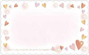 ハッピネスなハートのミニカード15枚入り 縦5.5×横9cm メッセージカード 席札 結婚式 プレゼント プライスカード