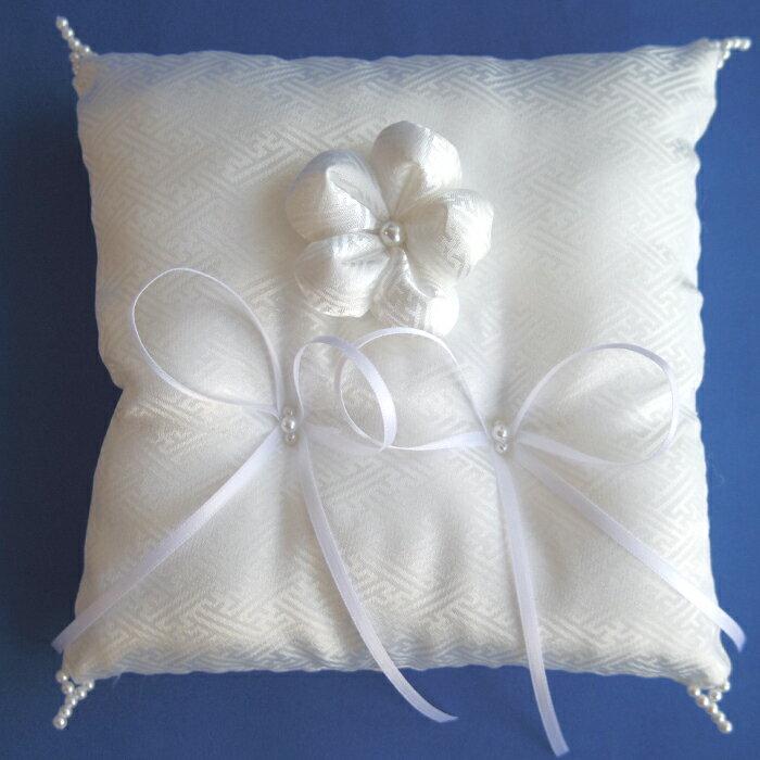 和風のリングピロー「花かざり」(完成品)直径約17cm【結婚式 白無垢 和装 着物】