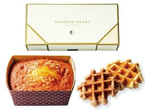 チーズケーキ&ワッフルのウォーミングハートギフトセット(ハーフケーキ1個・ココアワッフル1個・プレーンワッフル1個入り)【結婚式・引き菓子・内祝い・焼き菓子・お茶菓子・洋菓子