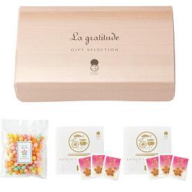 感謝 伝統菓子と鰹節のギフトセット 1箱(おいり15g×1袋、かつお花削り2g×6袋) 結婚式 内祝い 引出物 引き菓子 ひな祭り 母の日