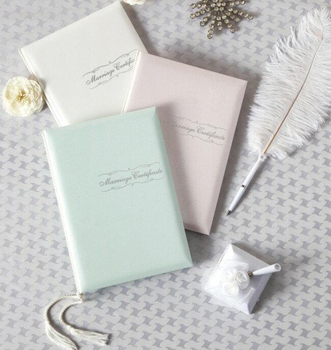 結婚証明書(ピンク・グリーン・ホワイト)立会人署名用紙104名分【ブライダル・結婚式】