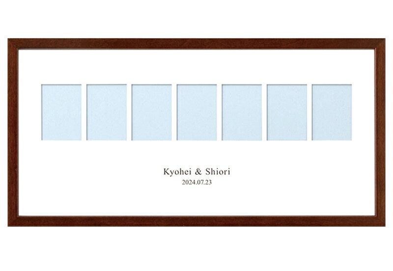 ご自身のお写真をセットするだけ★「WELCOME」フォトボード手作りキット(21.7cm×43.7cm)【結婚式のウェルカムボード ウェディング 結婚祝い お名入れ】