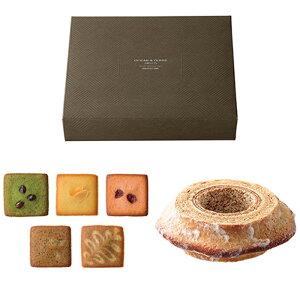 バームクーヘン1個とフィナンシェ5種類のギフトセット×1箱 結婚式 バレンタインデー ホワイトデー 引き菓子 引出物