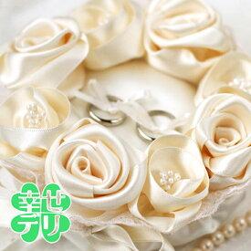 オリジナル解説書付き ローズのリングピロー(シャンパンゴールド)手作りキット 結婚式の手芸キット 結婚祝い【あす楽】