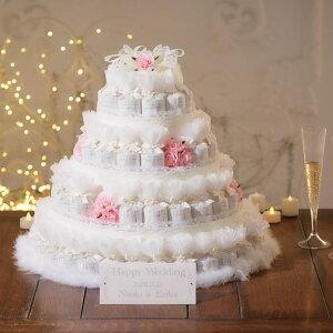シャイニーデコレーションケーキ(ピンク)ハート型クッキーのプチギフト72個セット 結婚式 ウェルカムオブジェ ウェルカムボード ディスプレイ