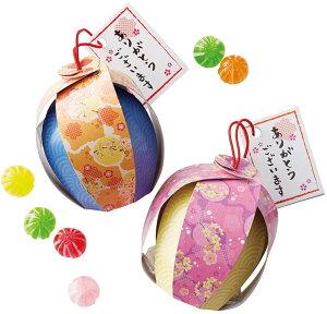 桜モチーフ「京手鞠」のプチギフト(てまりキャンディー6粒入り×1個)【和装の結婚式 さくら 春婚 ホワイトデー】