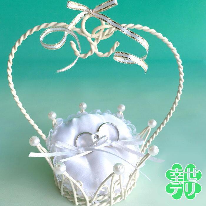 クラウン型リングピロー【結婚指輪を結べるタイプ(パールなし)】(ワイヤー・完成品)