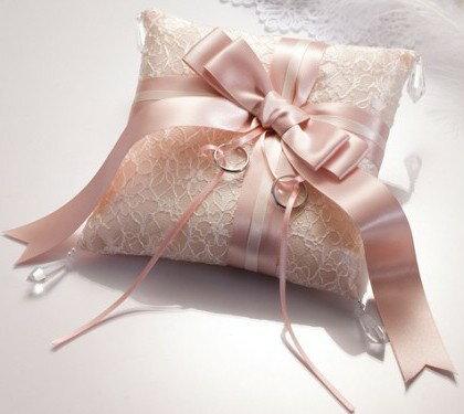ドラマティックリングピローシルキーリボン(ピンク)完成品【結婚式 人前式 チャペル式 結婚祝い】