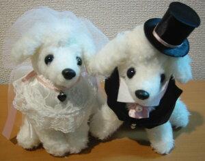 ホワイトプードルのウェルカムドッグ手作りキットピンクリボン ボア生地カット済み【ウェルカムドール 犬のぬいぐるみ】
