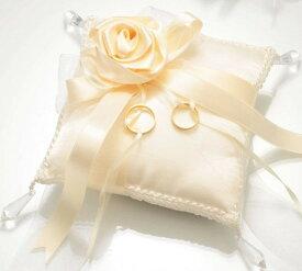 【リングピロー手作りキット】ローズ・スウィートシリーズRP19クリスタルローズのリングピロー(スクエア)【結婚式 ウェディング 花嫁diy】