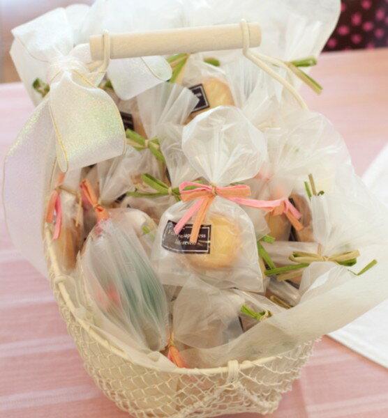 アイボリーバスケットL(横幅約31cm)【ワイヤー 結婚式 ブライダル プチギフト 小物入れ】