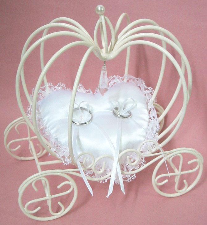 【ハート型のリングクッションを手作り】かぼちゃの馬車のリングピロー【L】手作りキット【ウェディング 結婚式 ワイヤーパンプキンキャリッジ】