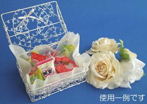 ボックス型リングピロー完成品(結婚式シルバーワイヤー)