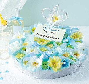 プリンセスの花冠のウェルカムボード(ドラジェ3個入りフラワーボックスのプチギフト40個セット)【結婚式 ウェディング ウェルカムオブジェ】