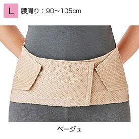 竹虎 腰部ベルト ランバックスリム  L ベージュ 品番:033964 腰部サポーター 腰痛ベルト 腰用サポーター 腰部固定帯