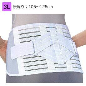 中山式腰椎医学コルセット(滑車式標準タイプ)  規格:3L 適用範囲(腰周り):105〜125cm 腰部サポーター 腰痛ベルト 腰用サポーター 腰部固定帯