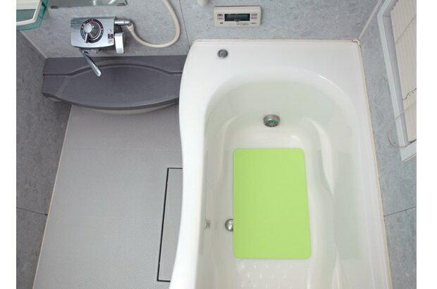 ★サンコー セーフティバスタブマット 40×60cm グリーン 厚み約2mm すべり止め 浴槽内用
