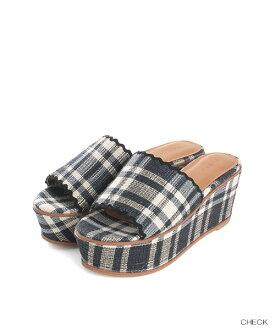 ◆WEB STORE提前預訂◆波cut楔子涼鞋/PS7059/RANDA/Y5[0230]