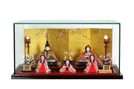 雛人形 木目込み 人気 かわいい おしゃれ ひな人形 人気 ひな人形 和 - なごみ - 五人飾り ガラスケース付 H3-14GN-046-G