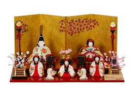 雛人形 木目込み 人気 かわいい おしゃれ ひな人形 茜 - あかね - 五人飾り H3-11GN-020A