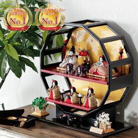 雛人形 かがやきシリーズ 香-かおり-五人飾り 人気 かわいい 木目込み コンパクト おしゃれ H3-11GN-009-E