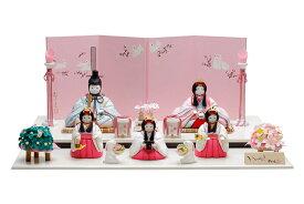雛人形 コンパクト 人気 かわいい おしゃれ 木目込み ひな人形  杏 - おしゃれ ん - 五人飾り H3-12GN-035