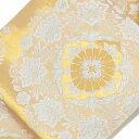 【中古20】袋帯 リサイクル 中古 正絹 結婚式 ふくろおび 華文文様 ゴールド系 jj0190b