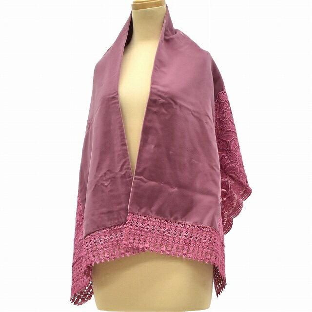 【中古30】着物 和装 ショール ストール リサイクル 中古 ベロア ピンク系 kka7147c