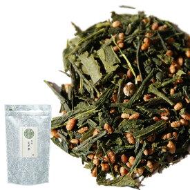 日本茶 茶葉 緑茶 静岡県産緑茶の玄米茶 200g (100g×2) チャック袋詰 ワンコイン お茶