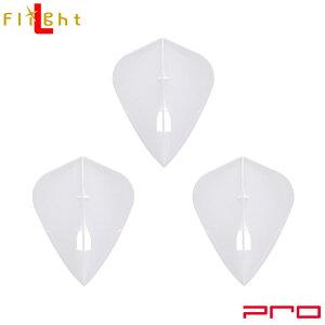 L-style(エルスタイル) L-Flight PRO(エルフライト プロ) 無地 カイト ホワイト (ダーツ フライト ダーツ 羽 darts flight)
